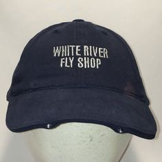 Vintage Fishing Hat Blue White River Fly Shop Lighted Cap Light Baseball Caps Dad Sports Hats For Men Fishing Hats, Sports Hats, Fly Shop, Vintage Fishing, Baseball Caps, Dad Hats, Hats For Men, Fashion Accessories, Winter Hats