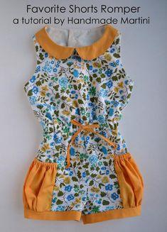 DIY Tutorial: DIY Rompers / DIY Clothes Refashion  :  DIY Favorite Shorts Romper - Bead&Cord