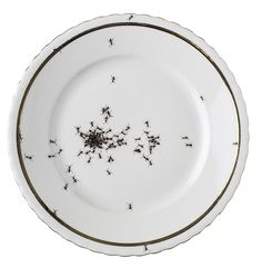 Plate decorated with ants