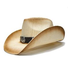 Gmshezmh GMS- Women Men Hombre Cowgirl Straw Hats Cowboy Hat with Alloy  Symbol for Lady 4c22f8a6f360