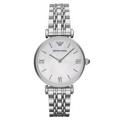 Emporio Armani Women Wrist Watch on YOOX. The best online selection of Wrist Watches Emporio Armani. YOOX exclusive items of Italian and international designers - Secure payments Stainless Steel Watch, Stainless Steel Bracelet, Cool Watches, Watches For Men, Women's Watches, Fashion Watches, White Watches, Stylish Watches, Online Shopping