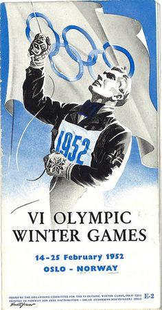 Brochure Olympische Winterspelen 1952 Oslo / Brochure Winter Olympics 1952 Oslo