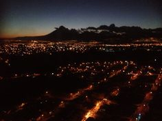 Noche en la ciudad de Guatemal