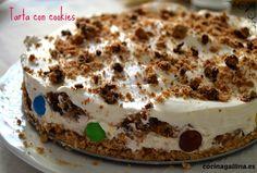 La tarta de cookies más rica de la historia. Tiramisu, Ethnic Recipes, Food, Custard, Beverages, Cookies, Pastries, Recipes, Historia
