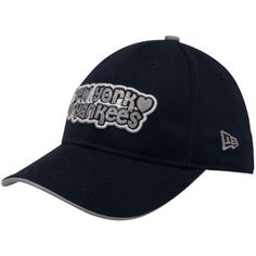 New Era New York Yankees Youth Girls Navy Blue Team Glitter Adjustable Hat