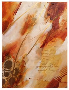 Abstract, Patty Ewing Gold series 1 of 4  Acrylic on canvas 20 x 30""