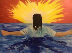Art - Love Hobart. Girl Baptism in the water, glorious new life, rays of sunshine Holy Spirit power. Please also visit www.JustForYouPropheticArt.com for colorful inspirational Prophetic Art and stories. Thank you so much! Blessings!