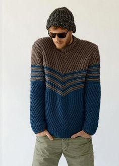HECHO para cuello redondo lana suéter cuello alto hombres