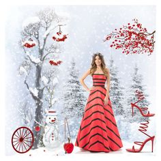 Winter red queen by amisha73 on Polyvore featuring sztuka