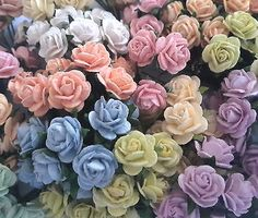 100 mini #mulberry paper #flowers wedding centerpiece gift #basket art craft r2-4,  View more on the LINK: http://www.zeppy.io/product/gb/2/291571602389/