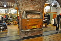 VW Bus on Wall by LaValle PDX, via Flickr
