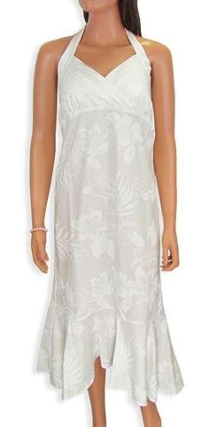 White Wedding Mid Length La'ele Halter Dress
