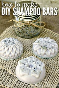 Does choosing natural hair care products seem like a chore? Learn how to make these DIY natural shampoo bars for healthy hair, and you'll be hooked on homemade. #shampoobars #naturalbeauty #diybeauty #haircare via @happymothering