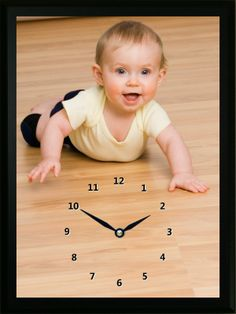 WeeKnees are little knee pads for babies as they learn how to crawl and walk. This WeeKnees Clock shows the WeeKnees in action. Photo Clock, Clocks, Action, Babies, Learning, Children, Group Action, Boys, Babys