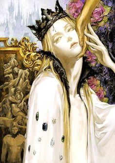 Illustrations by Ayami Kojima - Santa Lilio Sangre How can the artist of Castlevania be so godlike? Those are some beautiful Gothic Fantasy art pieces. Character Inspiration, Character Art, Arte Fashion, Bild Tattoos, Pretty Art, Aesthetic Art, Dark Art, Oeuvre D'art, Art Inspo