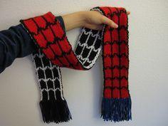 spidey vs. venom scarf (ravelry pattern)