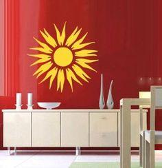 Sun sticker wall mural