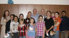 A 'team photo' at fellowship on Sun 22nd June 2014 and a goodbye to Erik and Katja Aigner  and children, returning to Trondheim after 18 months in St Petersburg