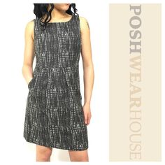 """Muted Charcoal Abstract Grid Print Shift Dress Side inseam zipper • Side pockets • Fully lined • Length 35"""" • Bust 34"""" • Waist 28"""" • Hips 36"""" • Cotton • Sized 4, fits like a 6   Like what you see? Follow me!  On PM @PoshWearHouse  On IG www.instagram.com/PoshWearHouse  On FB www.facebook.com/PoshWearhouse J. Crew Dresses Midi"""