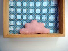 Petit+nuage+en+lin+rose+poudré,+à+poser+ou+à+suspendre+:+Accessoires+de+maison+par+le-bazar-creations