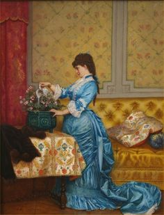 The Athenaeum - Young Lady in Blue Dress (Auguste Toulmouche - )