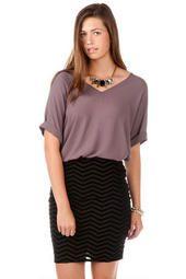 Biella Chevron Skirt