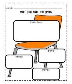 Chair example to teach main idea/details
