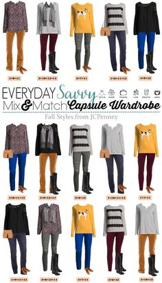 Here is a new JCPenney capsule wardrobe for Fall. These mix and match outfits will have you looking great for all your fall casual events.   via @everydaysavvy