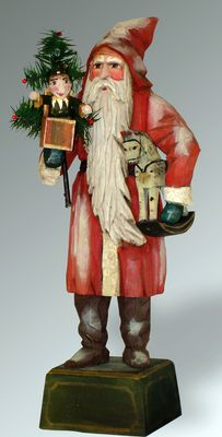 Folk art wood carvings from The Whimsical Whittler :: Toys For You Ltd. Ed. :: Christmas and Santas