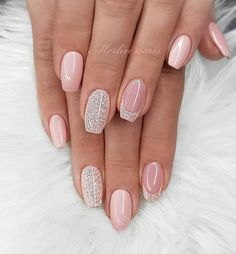 43 Pretty Nail Art Designs for Short Acrylic Nails Nude Nails with Glitter Nude Nails With Glitter, Pink Nails, My Nails, Acrylic Nail Designs, Nail Art Designs, Acrylic Nails, Nails Design, Elegant Nail Designs, Nail Polish Designs