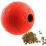 $12.99  - Aduck Interactive IQ Treat Dog Fetch Ball Toy [Fun Feeder][Safety Nature Rubber] Food Dispensing Puzzle Puppy Toy for Training Playing Running Chasing  #CatToys