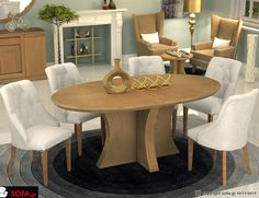 Τραπεζαρία Οβάλ Royal Dinning, Decor, Furniture, Sofa, Table, Dinning Table, Home, Home Decor