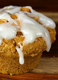Whole Wheat Pumpkin Spice Muffins #recipe