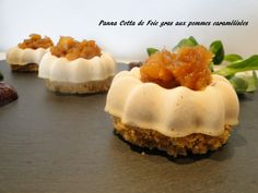 Panna Cotta Foie Gras, Salty Foods, Hors D'oeuvres, Beets, Mini, Salad Recipes, Sushi, Cheesecake, St Honoré