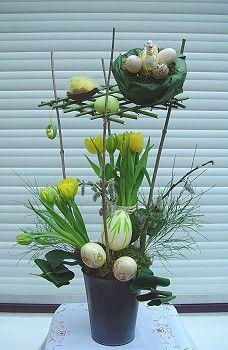 compo art floral paques art floral p ques pinterest art floral p ques et art. Black Bedroom Furniture Sets. Home Design Ideas