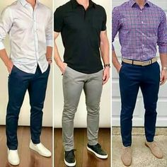 Men's Fashion tips. Dress with dapper and wear the proper attire with our men's style guide. Gq Mens Style, Mens Style Guide, Men Style Tips, Outfit Hombre Casual, Formal Men Outfit, Stylish Men, Men Casual, Casual Styles, Smart Casual