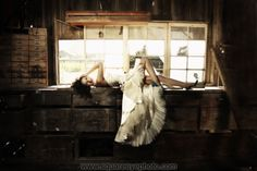 orange county wedding photography bride in a barn trash the dress