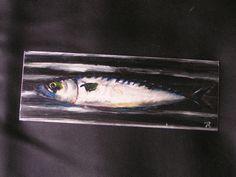 Makrele Acryl auf verzinktem Stahlblech. effage 2002