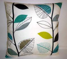 Pillow Teal Blue Green Gray White 4 CHOICES Mix Match Designer