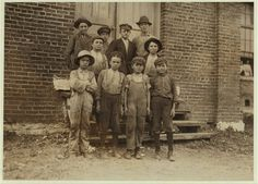 Young doffers in Elk Cotton Mills. Location: Fayetteville, Tennessee.