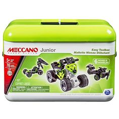 Meccano Junior Easy Toolbox 6 Model Set ** Check out this great product.Note:It is affiliate link to Amazon.