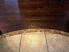 Such A Beautiful Transition Between Tile And Hardwood Floors within Tile To Wood Floor ...