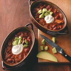 Hearty Vegetarian Chili Recipe from Taste of Home -- shared by Pam Ivbuls of Omaha, Nebraska
