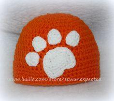 Crochet Tiger Paw beanie