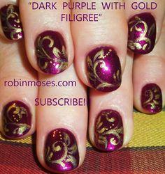 """Robin Moses Nail Art: """"damask nails"""" """"damask nail art"""" """"nail art ..."""