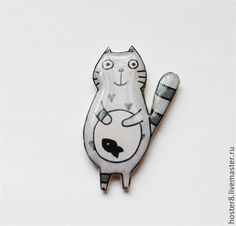 Cute polymer clay brooch
