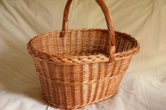 Large Wicker Basket Large Oval Basket Handwoven by WillowSouvenir