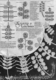 Croche Madona-mía puntos y graficos: Iris Crochet-Crochet irlandés Gráficos -B- Freeform Crochet, Crochet Diagram, Crochet Chart, Thread Crochet, Crochet Stitches, Crochet Leaf Patterns, Crochet Leaves, Crochet Designs, Crochet Flowers