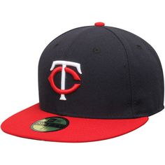 new concept 85a95 c9f23 Minnesota Twins New Era AC On-Field 59FIFTY Road Performance Fitted Hat -  Navy -