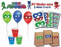 Etiquetas engomadas de la instantánea DL Pj máscaras de ojos